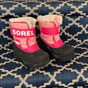 Toddler Girls Sorel Snow Boots size 7
